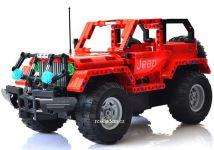 RC Stavebnica dvoch terénnych áut s nabíjacou batériou, červená