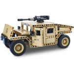 RC stavebnica Mechanical Master Armádne vozidlo s otočným guľometom 2.4G