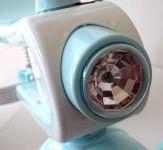 Multifunkční dětské tříkolové odrážedlo 2 v 1 s funkčním světlem, zvukem a odpružením světle modré