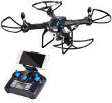 XXL DRON L5 s HD WIFI kamerou- barometrom-EVOLUTION PRO Sada 4 batérií navyše! čierny