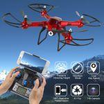 XXL DRON L5 s HD WIFI kamerou- barometrom-15 minút letu, červený