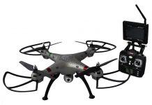 Koome K800B FPV 52cm najkrajší dron na trhu s HD kamerou, barometrom a online prenosom, strieborná