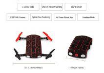 SKLADACIE DRON DO KAPSY MONSTER 19cm, červený