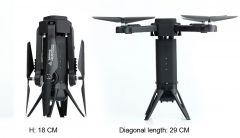 Skladacia dron Tower s HD FPV kamerou a senzormi proti nárazu, čierny