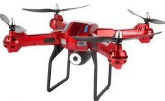 XXL DRON L5 55cm EVOLUTION PRO s HD kamerou- barometrom 4ks batérií navyše! červený