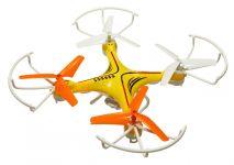 Dron Voyager 29cm s trojlistou vrtuľami a kamerou, žltý