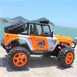 Luxusné realistický JEEP 22cm- 45km / hod náhon 4x4 s ľad svetlami, oranžový