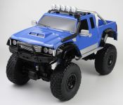Mega Monster RC Truck 53cm 4x4 2.GHz s funkčnými svetlami a výkonným odpružením, modrý