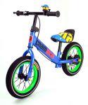 Najkrajší detské kovové odrážadlo Champion s drôtenými kolesami, modré