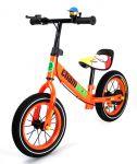 Najkrajší detské kovové odrážadlo Champion s drôtenými kolesami, oranžové