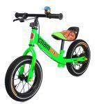 Najkrajší detské kovové odrážadlo Champion s drôtenými kolesami, zelené