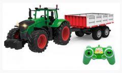 Traktor na diaľkové ovládanie so super LED svetlami, realistickými zvukmi a diaľkovo ovládaným prívesom