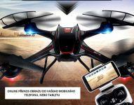 Dron S3W 58cm s wifi kamerou a časom letu až 12minut, čierny