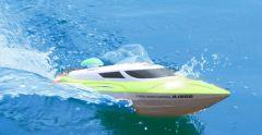 Najúžasnejší závodné loď 35km / h so svietiacimi svetlami a indikátorom dosahu až 200m, zelená