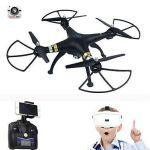 T70VR najnovšie dron s živým prenosom obrazu 3D VR okuliarov! čierny