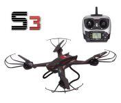 XXL Dron S3 58cm s HD kam. záznam na SD kartu 12 minút letu, čierny