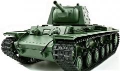RC Tank 1/16 Russia KV-1S Ehkranami 3878-1 50cm s dym. efektom, strieľa guľôčky