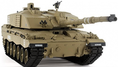 RC Tank s dymom a zvuky British Challenger 2 69cm 1:16 2.4 GHz, strieľa guľôčky
