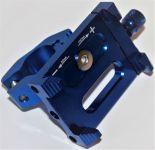 Štýlový držiak na telefón pre elektrokoloběžky, kovový modrý