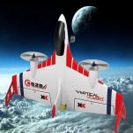 FIGHTER X520 VTOL RC nadčasové lietadlo s GYRO stabilizáciou a barometrom, biele