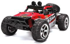 Nádherná Buggy Storm PRO Desert 45km / hod 4x4 41cm, ktorá svieti a navyše s batériou navyše, červená