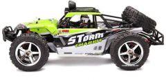 Nádherná Buggy Storm PRO Desert 45km / hod 4x4 41cm, ktorá svieti a navyše s batériou navyše, zelená