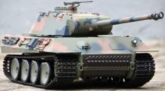 RC TANK German Panther 1:16, zvuk. a dym. efekty, 2,4 GHz, strieľa guľôčky