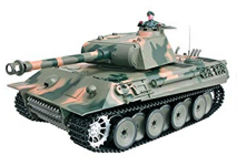 RC TANK German Panther 1:16, zvuk. efekty, oceľová limit. edícia, strieľa guľôčky