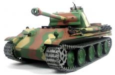 RC TANK German Panther Typ G, 1:16, oceľové doplnky, dym. a zvuk. efekty, strieľa guľôčky