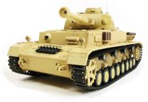 RC TANK German Panzer IV (F Type), 1:16, dym. a zvuk. efekty, strieľa guľôčky