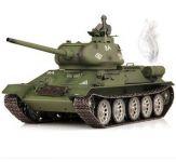 RC TANK T-34/85 1:16, dym. a zvuk. efekty, strieľa guľôčky