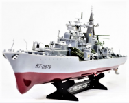 RC Torpédoborec Destroyer HT-2879B 1: 275 2.4GHz - 78cm dlhá a bojová loď.