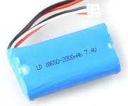 Batérie 7.4V 2000mAh Li-ion pre RC Modely Aut a Stavebných Strojov