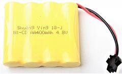 Batérie 4.8V 400mAh Ni-Cd pre RC Modely Aut a Stavebných strojov