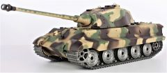 RC Tank 1:16 German King Tiger, dym. a zvuk. efekty, oceľové doplnky a pásy, strieľa guľôčky