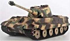 RC Tank 1:16 German King Tiger (veža Henschel), dym. a zvuk. efekty, strieľa guľôčky
