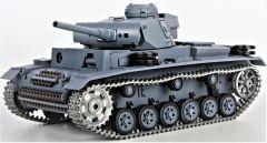 RC Tank German Panzer III type L, 1:16, zvuk. a dym. efekty, oceľové doplnky a pásy, strieľa guľôčky