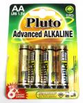 Alkalické batérie Pluto 1.5V AA (4ks)