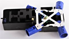 Základ skeletu v modrej farbe pre dron SKY WARRIOR K70