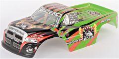 Kabína Pre RC Monster Truck Super Racing 1:10, zelená