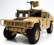 RC HUMMER - americkej vojenskej vozidlo so zvukovým a svetelným systémom, armádne púštne žltá