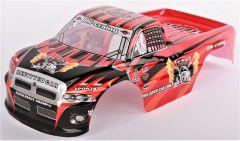Kabína Pre RC Monster Truck Super Racing 1:10, červená