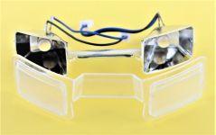 Okuliare predné s LED diódami komplet pre XXL DRON L5