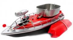 Zakrmovací zavážací rybárska loď 43cm s nosnosťou až 1000g, červená