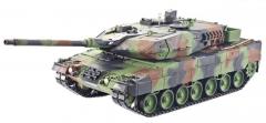 Tank LEOPARD 2A6 2,4Ghz 1:16 verzie 6.0, kovová prevodovka, streľba BBS, IR