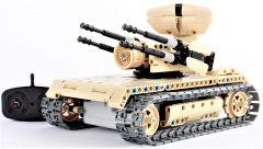 RC stavebnica Mechanical Master Vojenský tank s otočnými guľometmi 2.4G