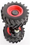 Traktor AXION CLAAS 850 náhradní díl zadní nápravy s koly a motorem v měřítku 1:16