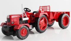 Traktor s prívesom - kvalitný kovový farmársky traktor v mierke 1:18