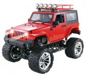 JEEP WRANGLER RUBICON s pevnou strechou 48cm 4x4 s dvojstupňovou prevodovkou, červený